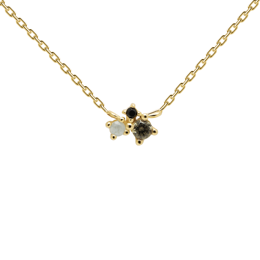 PDPAOLA - Lime blush gold necklace CO01-177-U Atelier collection
