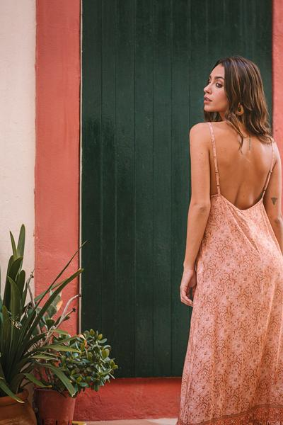 Poppy Field the label - baga pink maxi dress dancer blush