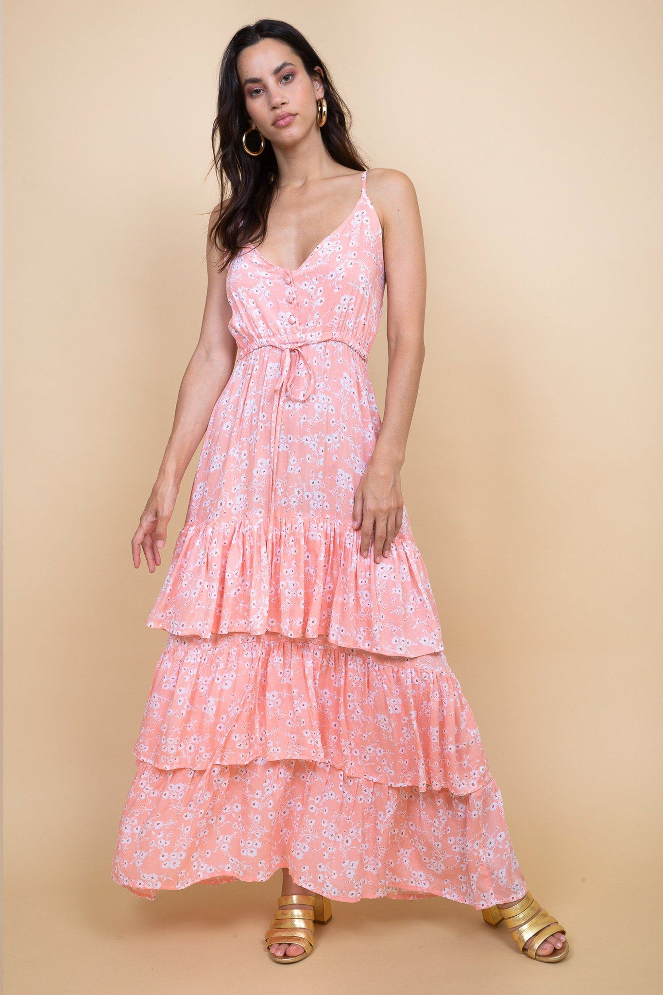 Poppy Field the label - colombo pink middle dress island sunset