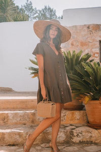 Poppy Field the label - varka dress toffee brown