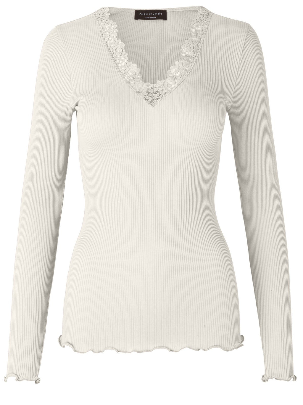 Rosemunde - silk blouse with crochet lace
