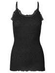 Rosemunde - wool strap top black