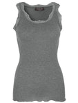 Rosemunde - wool top dark grey melange
