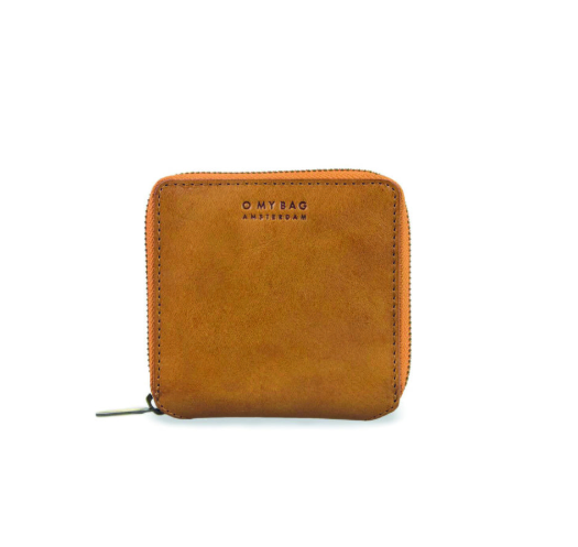 O My Bag - Sonny Square Wallet - Cognac Stromboli Leather