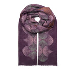 Unmade codee scarf purple grape wine