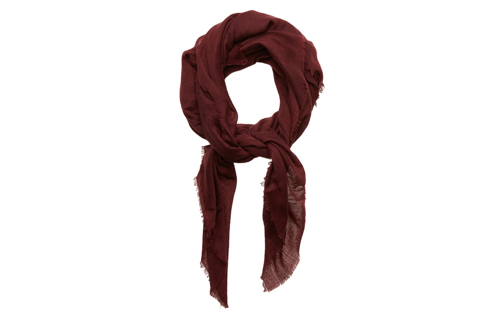 Unmade ekka bordeaux deep red scarf