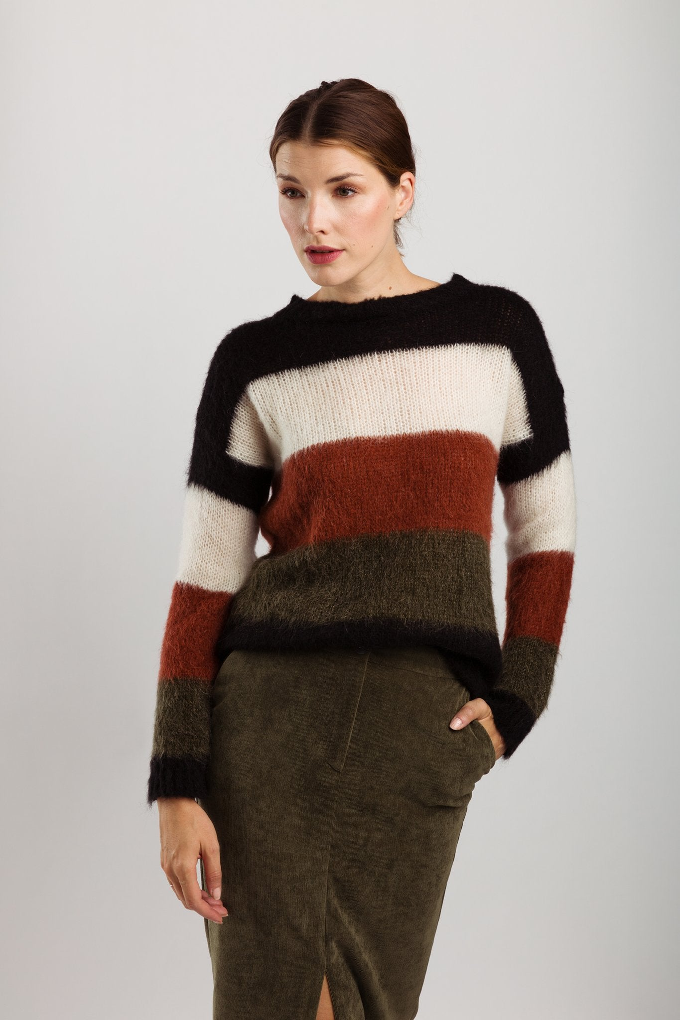 Wearable Stories - Hazel rust knitwear pull