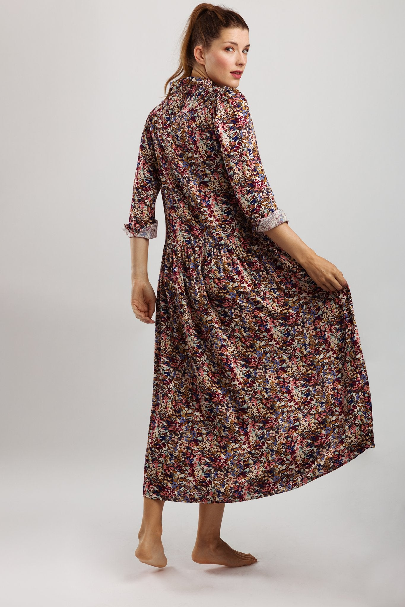 Wearable Stories - lucy flower print dress pink