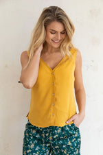 Wearable Stories - viola ocher top yellow