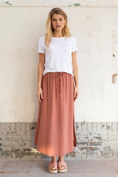 Wearable Stories - georgie dark pink skirt