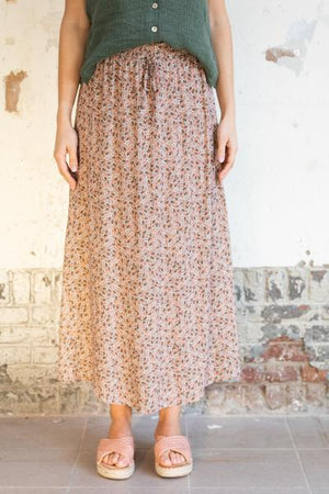 Wearable Stories - georgie pink flowerprint skirt