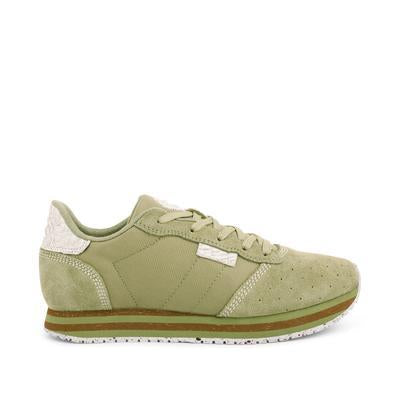 Woden - alison low dusty olive green sneaker
