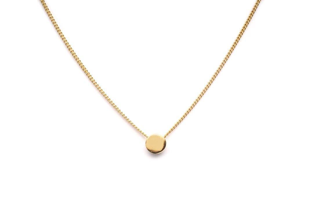 Wouters & Hendrix - gold plated necklace with round pendant