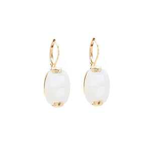 Wouters & Hendrix -  leverback earrings with white mother of pearl