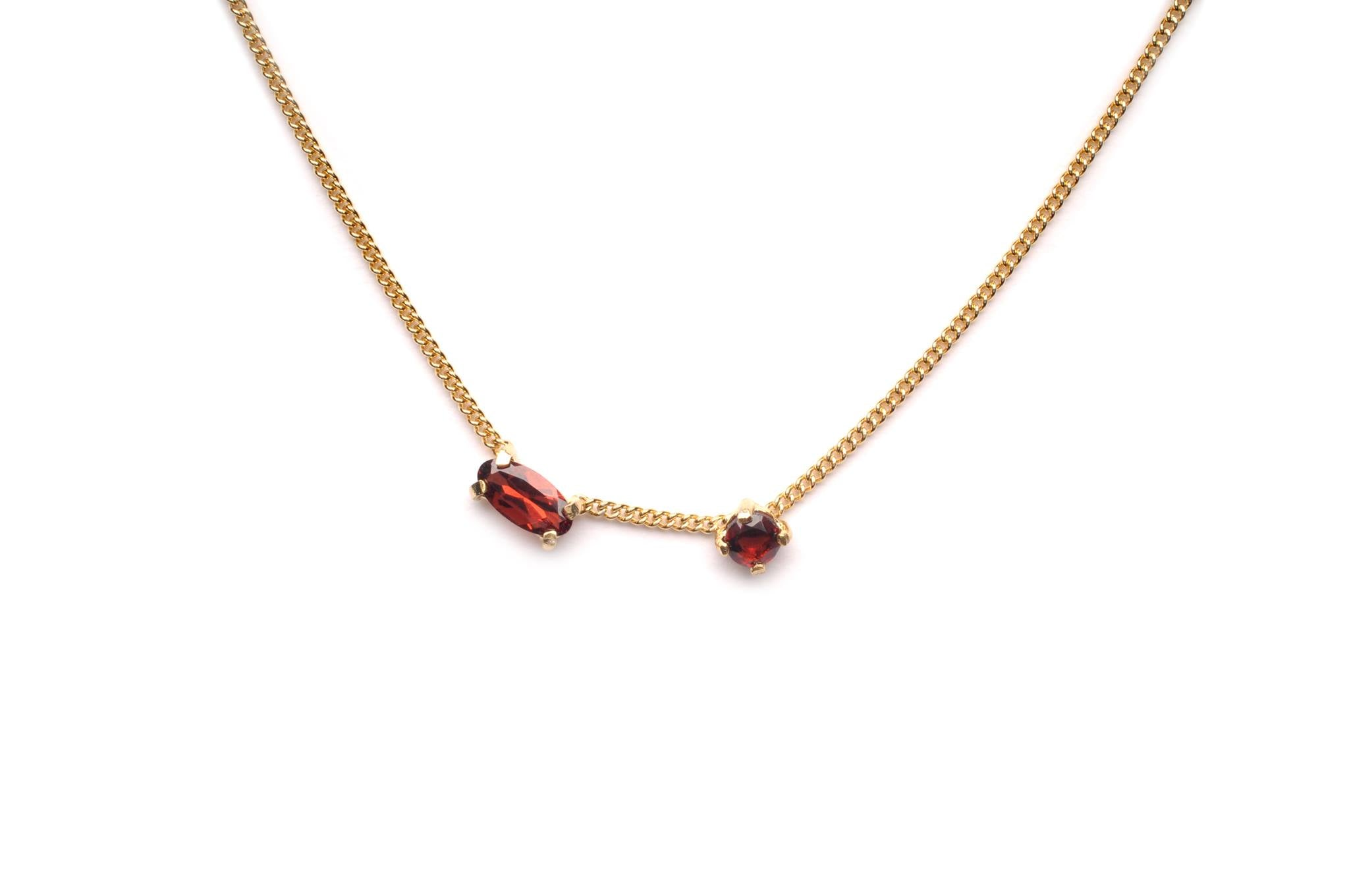 Wouters & Hendrix - silver garnet stone necklace