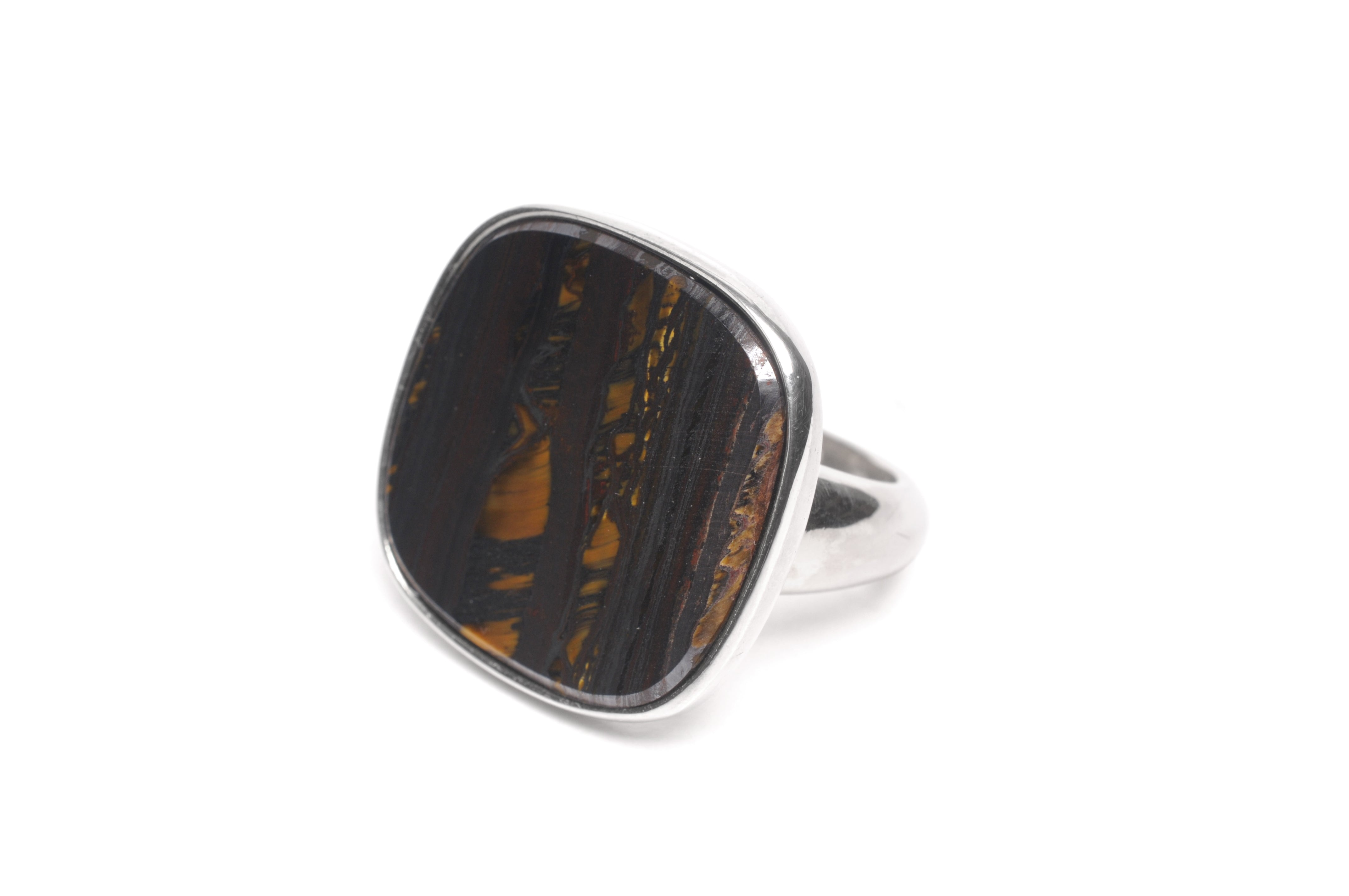 Wouters & Hendrix -  silver ring with brown tiger eye