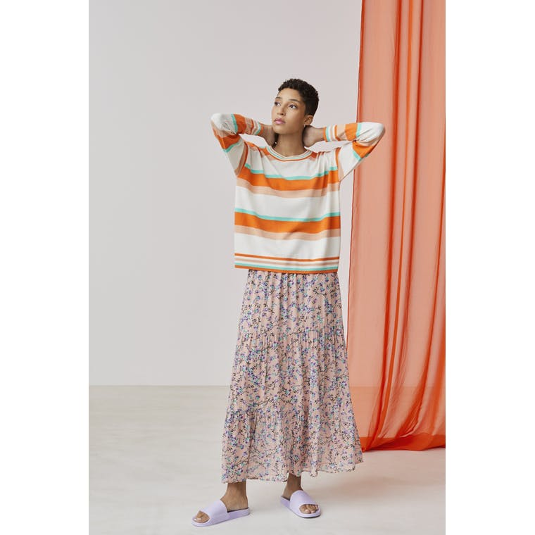Xandres studio - stanis orange and white striped jumper