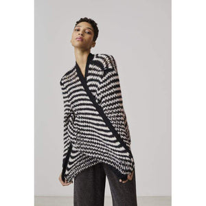 Xandres studio - morissa cardigan in zwart en wit