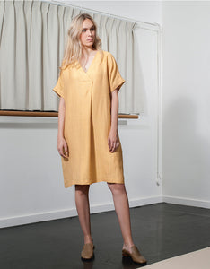 Dutchess - corn yellow chiba dress