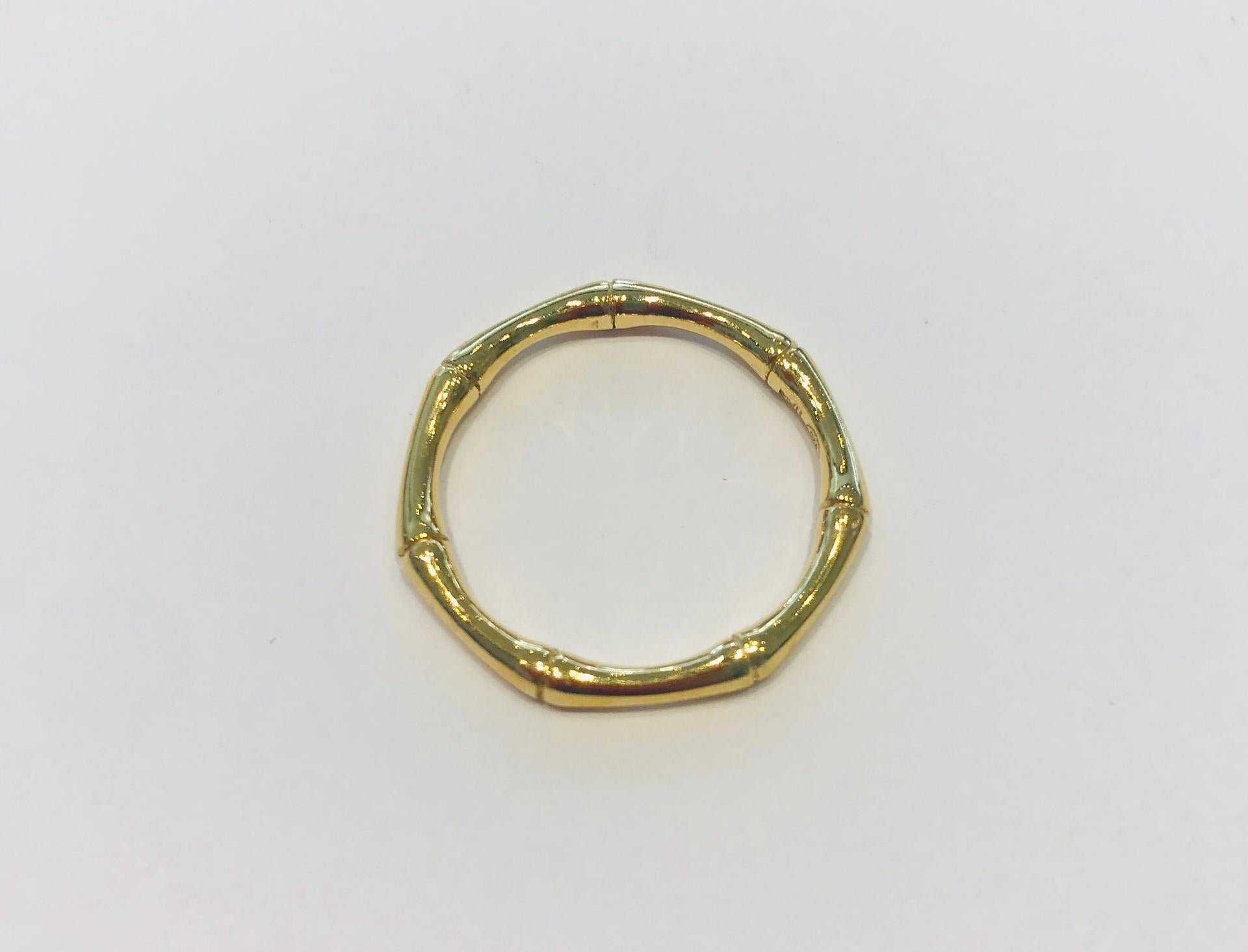 Gold plated bamboo ring by SAM&CEL.