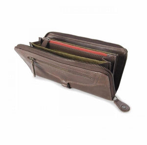 Aunts & Uncles - dark brown or black metallic wallet