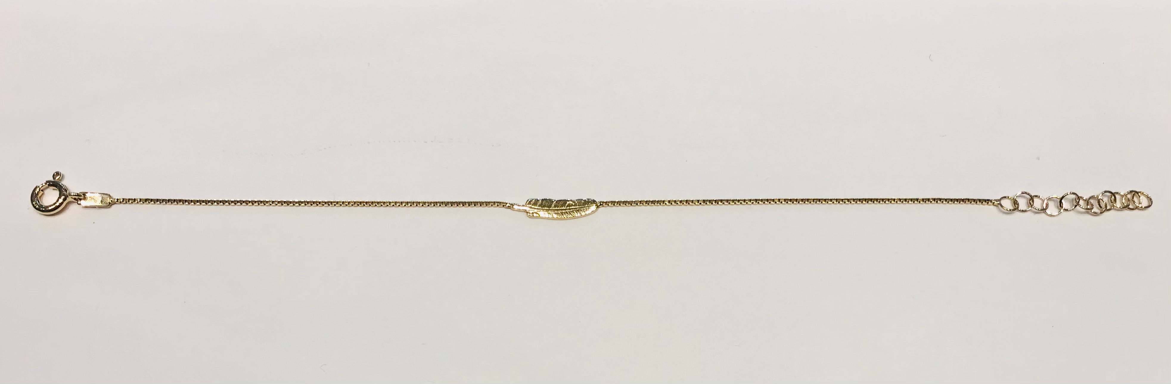 SAM&CEL goldplated bracelet with little feather