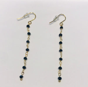 Steel earrings with black crystals by SAM&CEL.