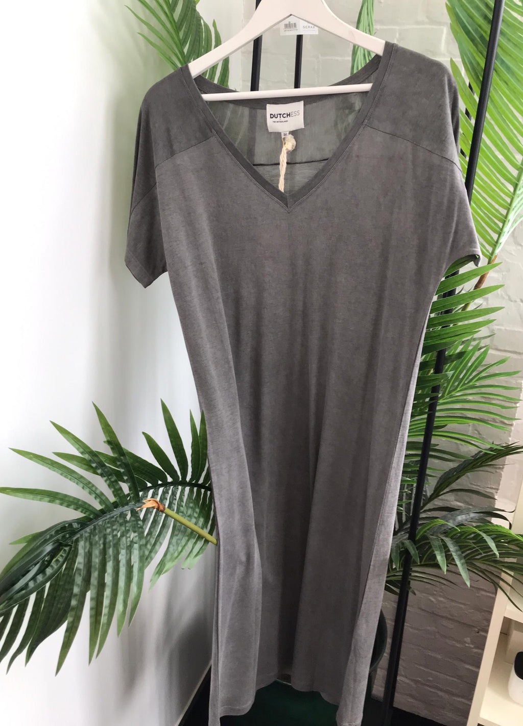 Grey Akari dress by Dutchess.