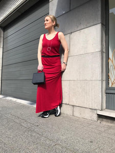 Hampton Bays - texas rio red long dress