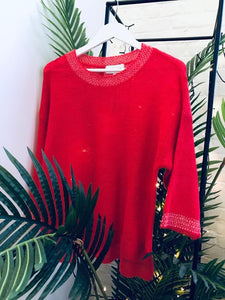 Maison Anje - colourful and cosy red knitwear