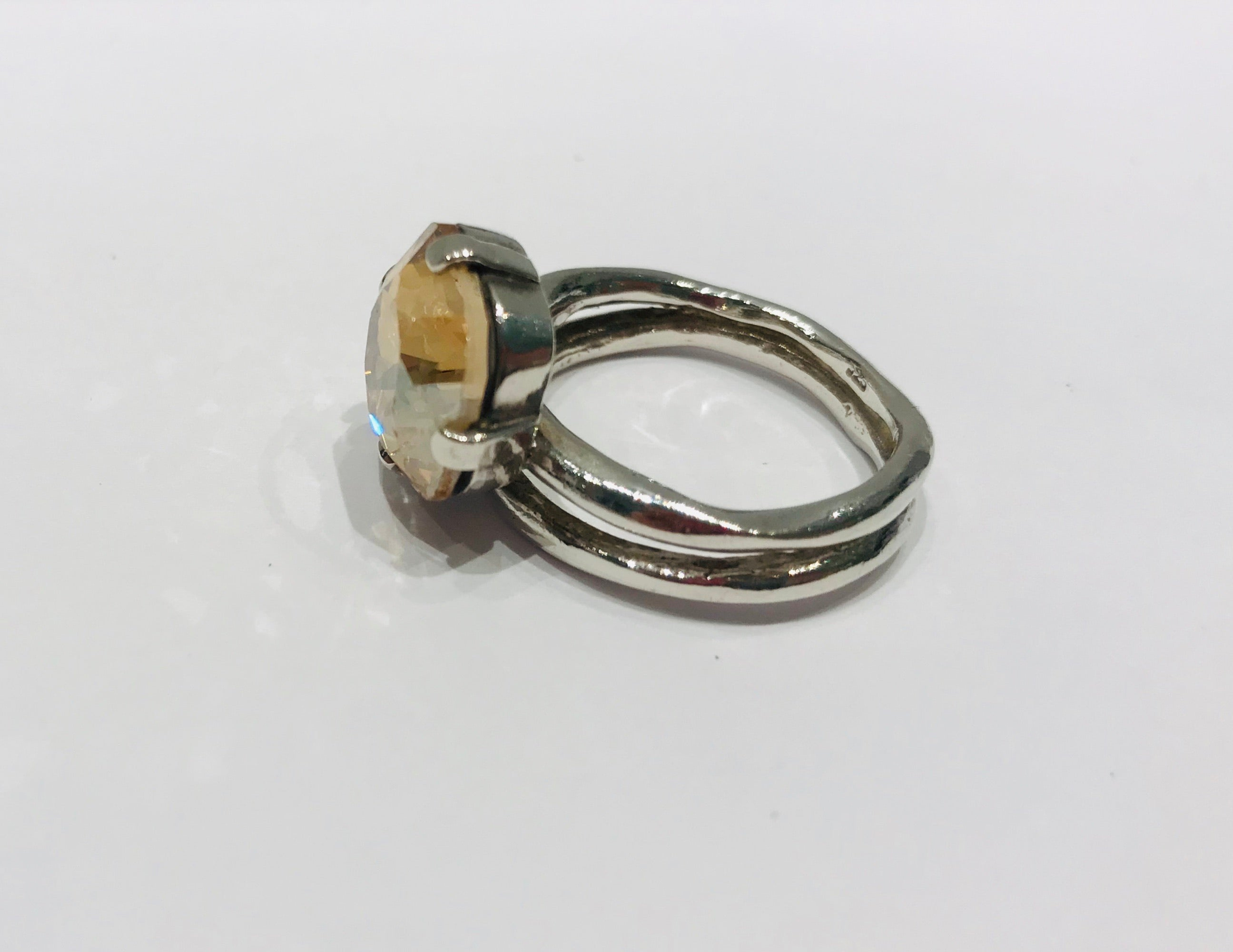 Wouters & Hendrix silver ring with cristal stone