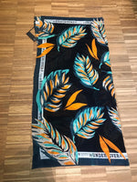 Xandres studio - colourful black palm scarf