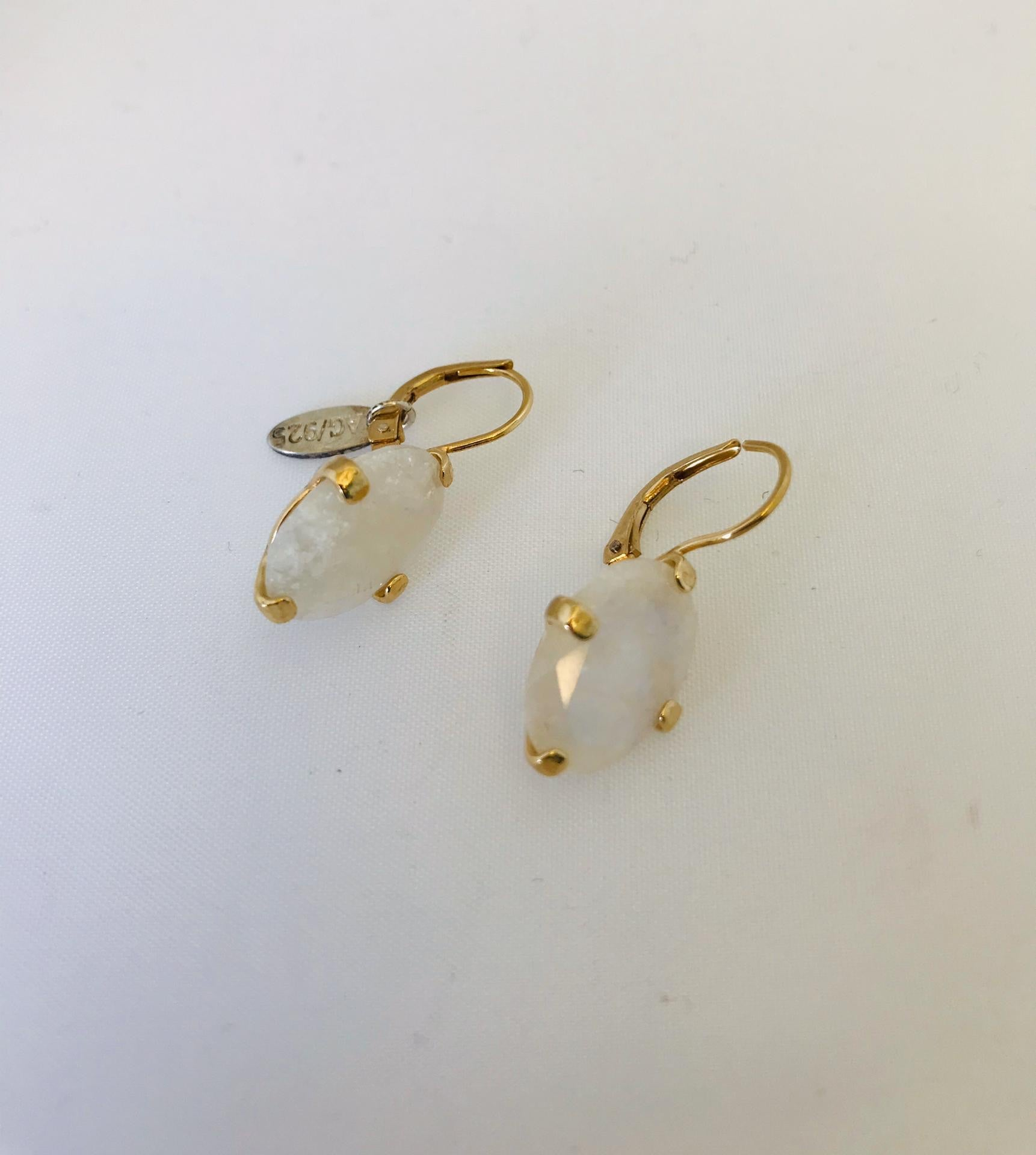 Wouters & Hendrix - gold plated moonstone earrings