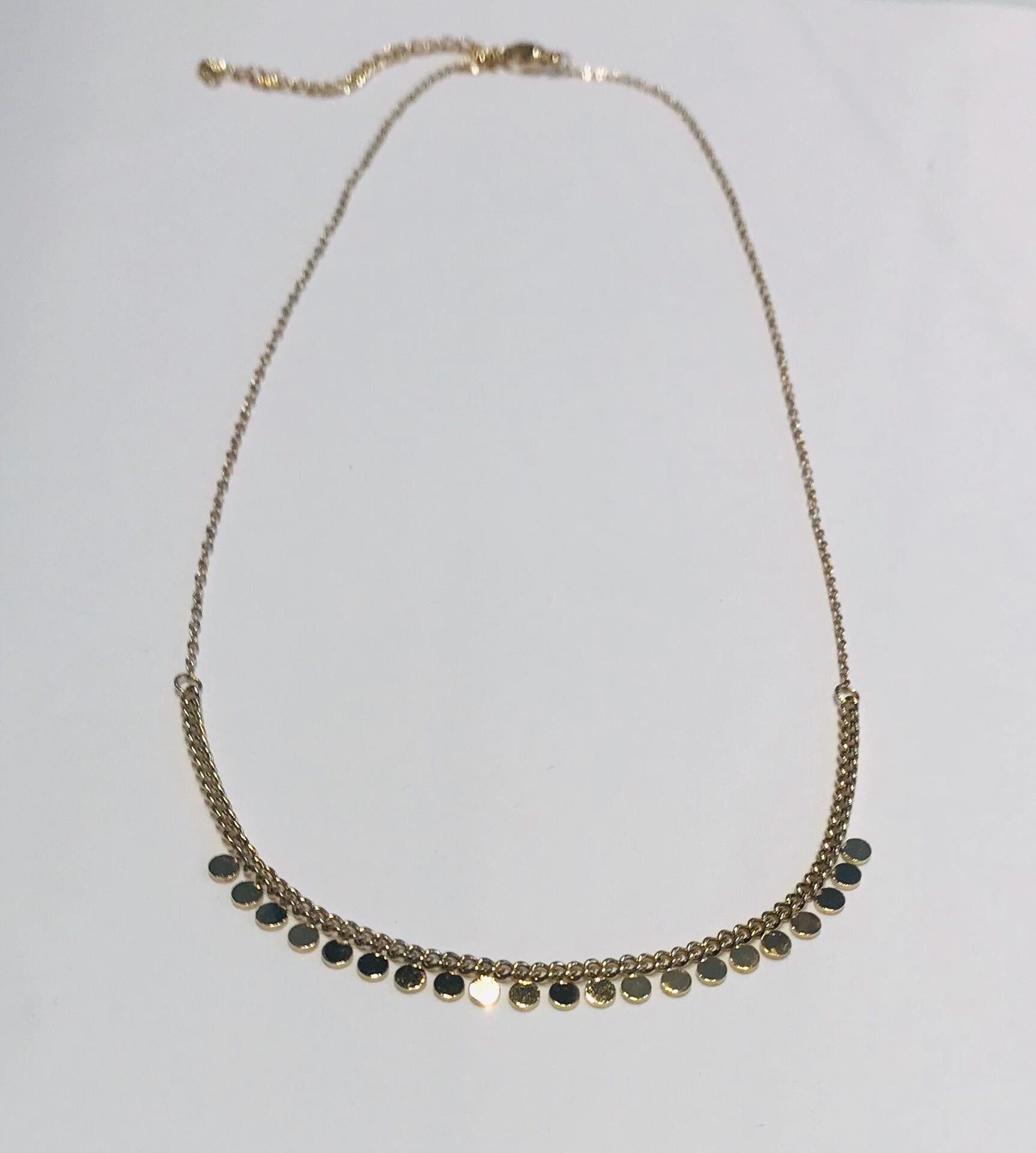 Steel necklace with small circle pendants by SAM&CEL.