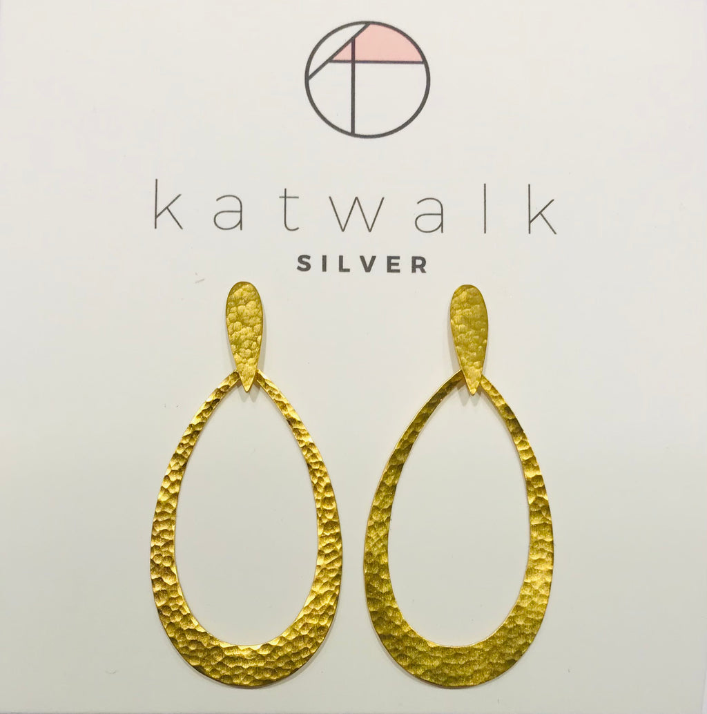 Katwalk Silver goldplated earrings