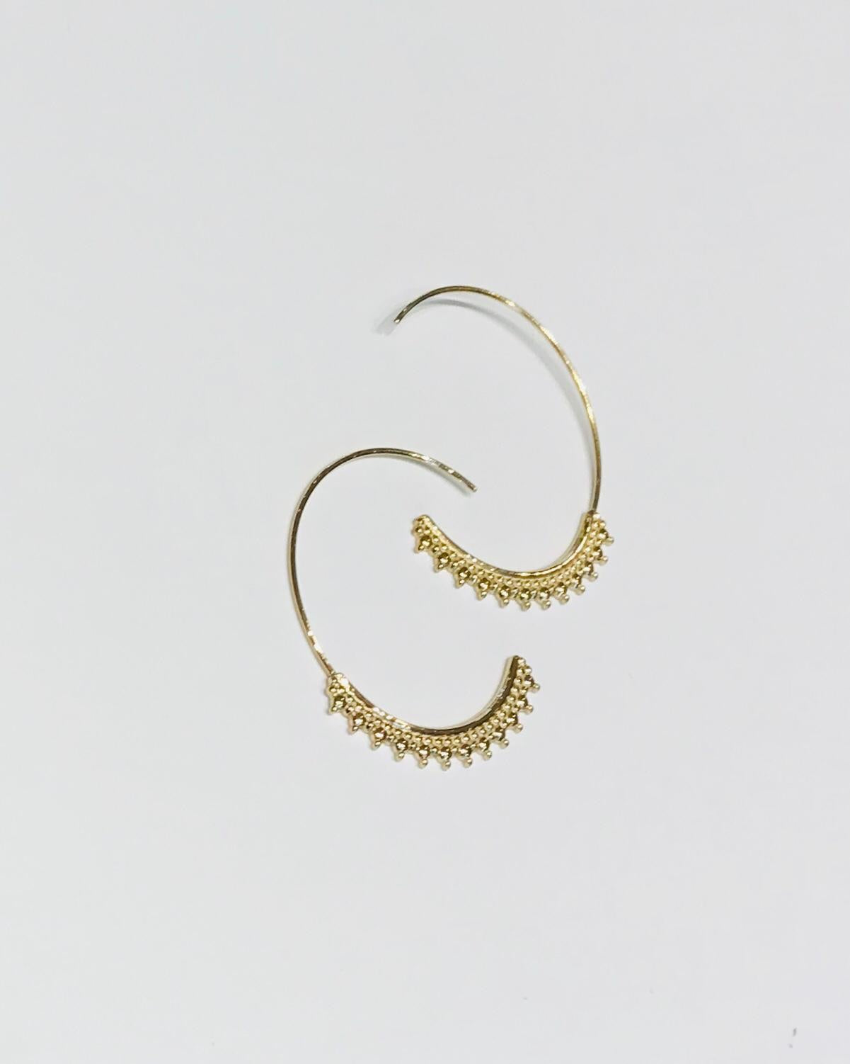 Sam&Cel - steel hoop earrings