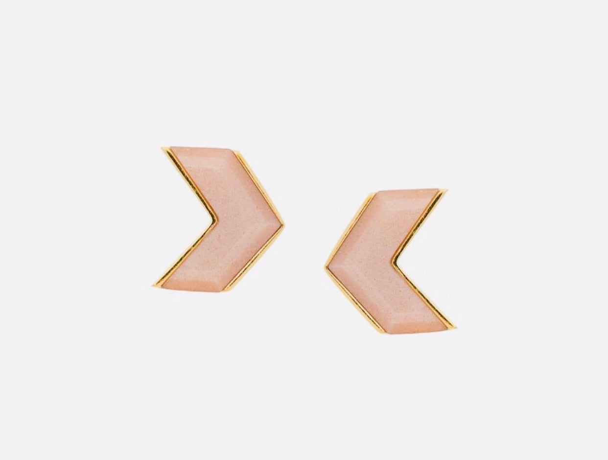 Wouters en Hendrix goldplated earrings with sunstone