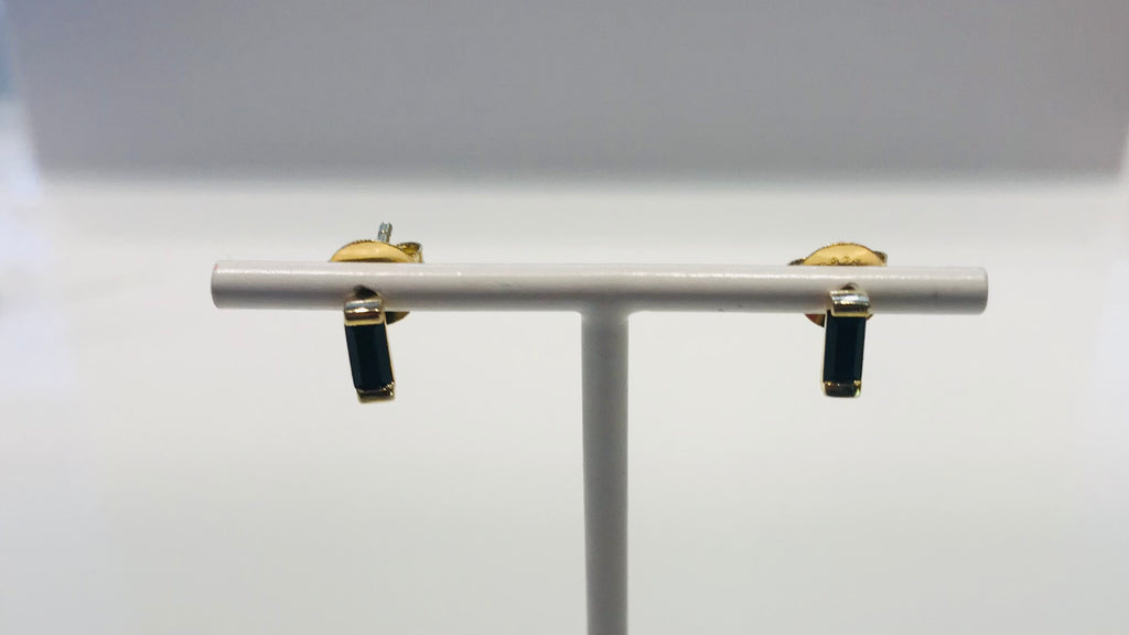 SAM&CEL goldplated studs with black cristal