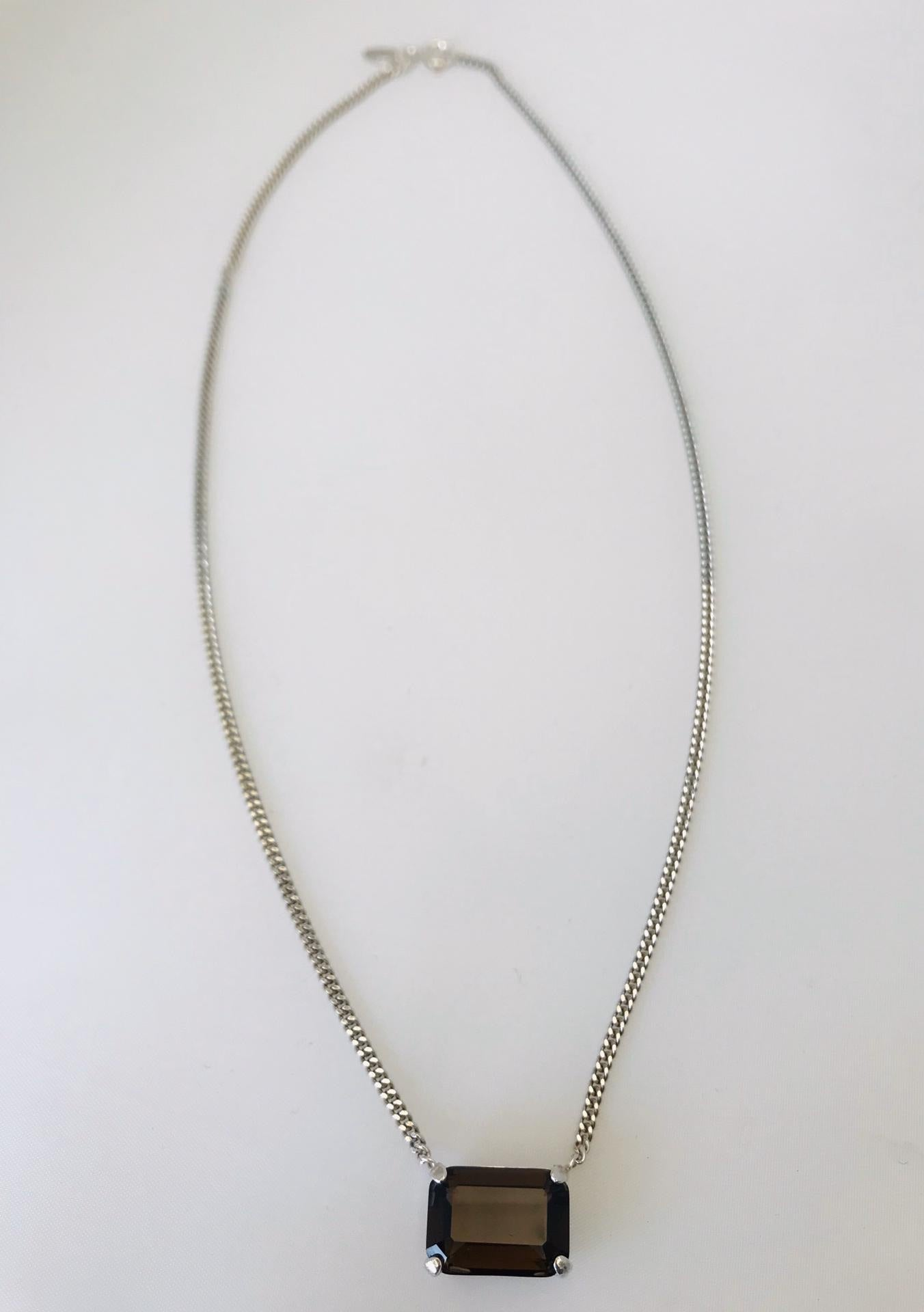 Wouters & Hendrix - silver smoky quartz necklace