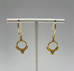 Gold plated zirconia earrings