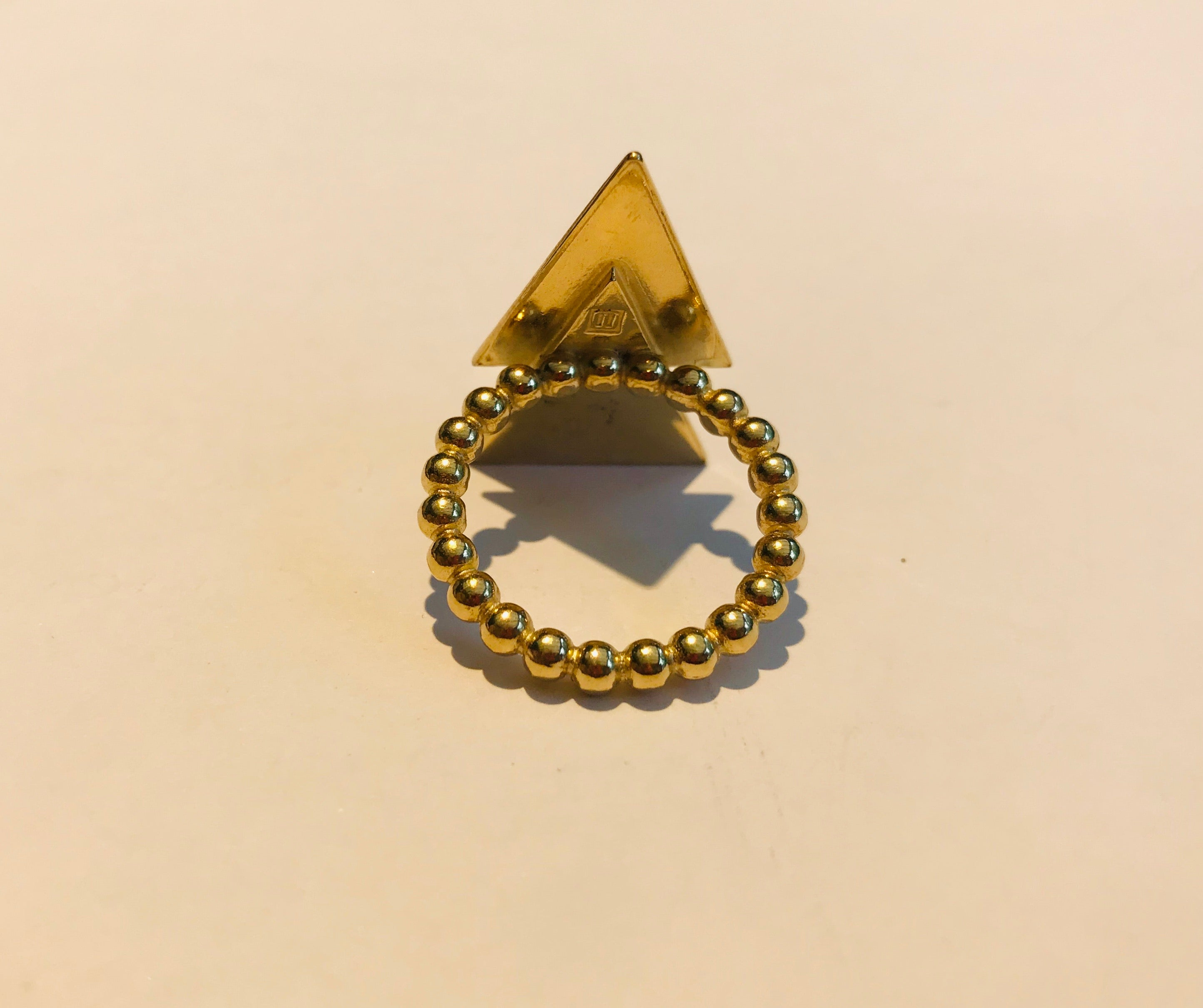 Atelier Elf goldplated ring 2 arrows