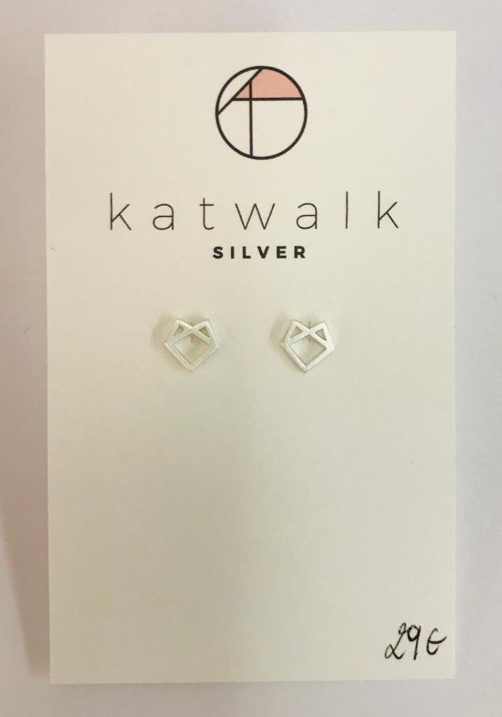 Sterling silver 925 fox stud earrings by the Belgian brand Katwalk Silver.