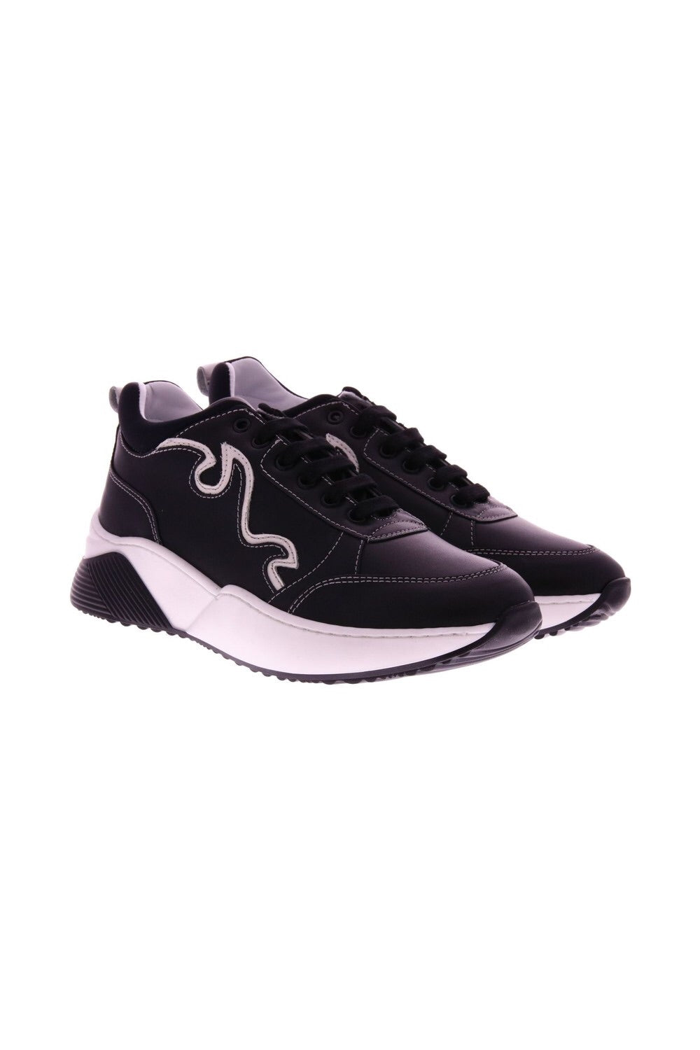 Fiamme - black/white leather sneaker