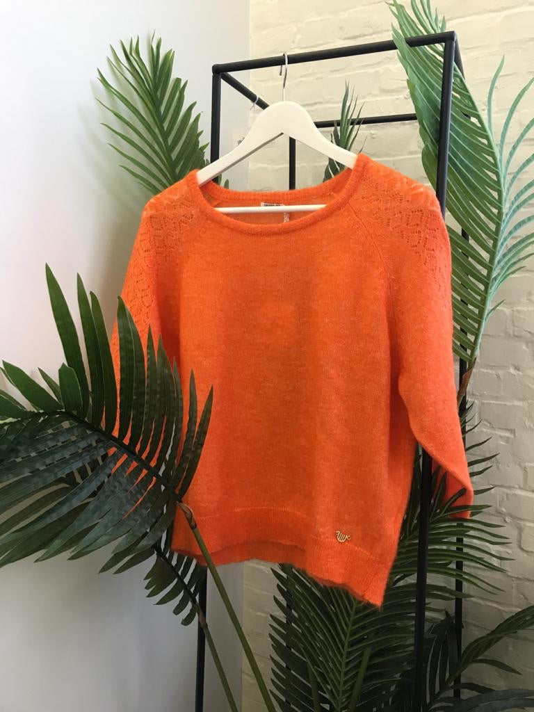 Orfeo - orange knit sweater
