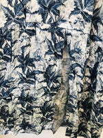 Maison Anje - ibba fidji flower print dress blue white