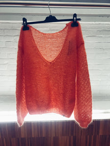 Made By Vest - orange luxury knitwear
