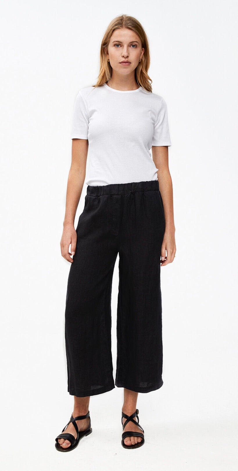 By-Bar Ines linen pant jet black