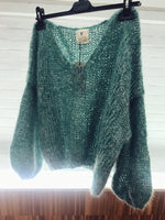 Made By Vest luxury handmade green knitwear