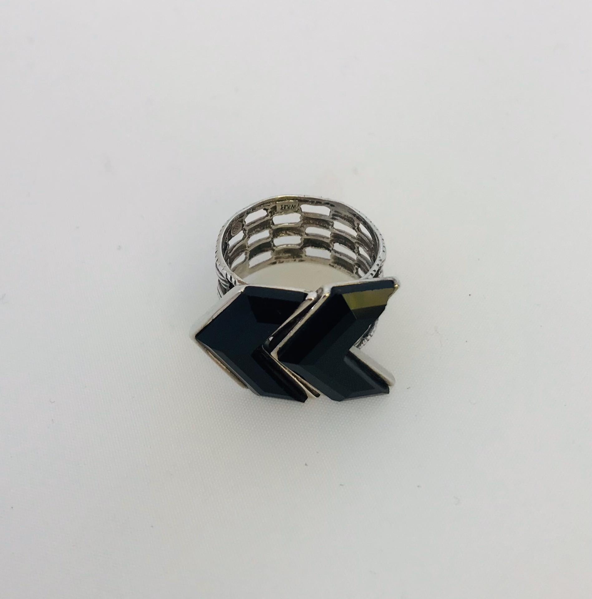 Wouters & Hendrix - silver black onyx ring