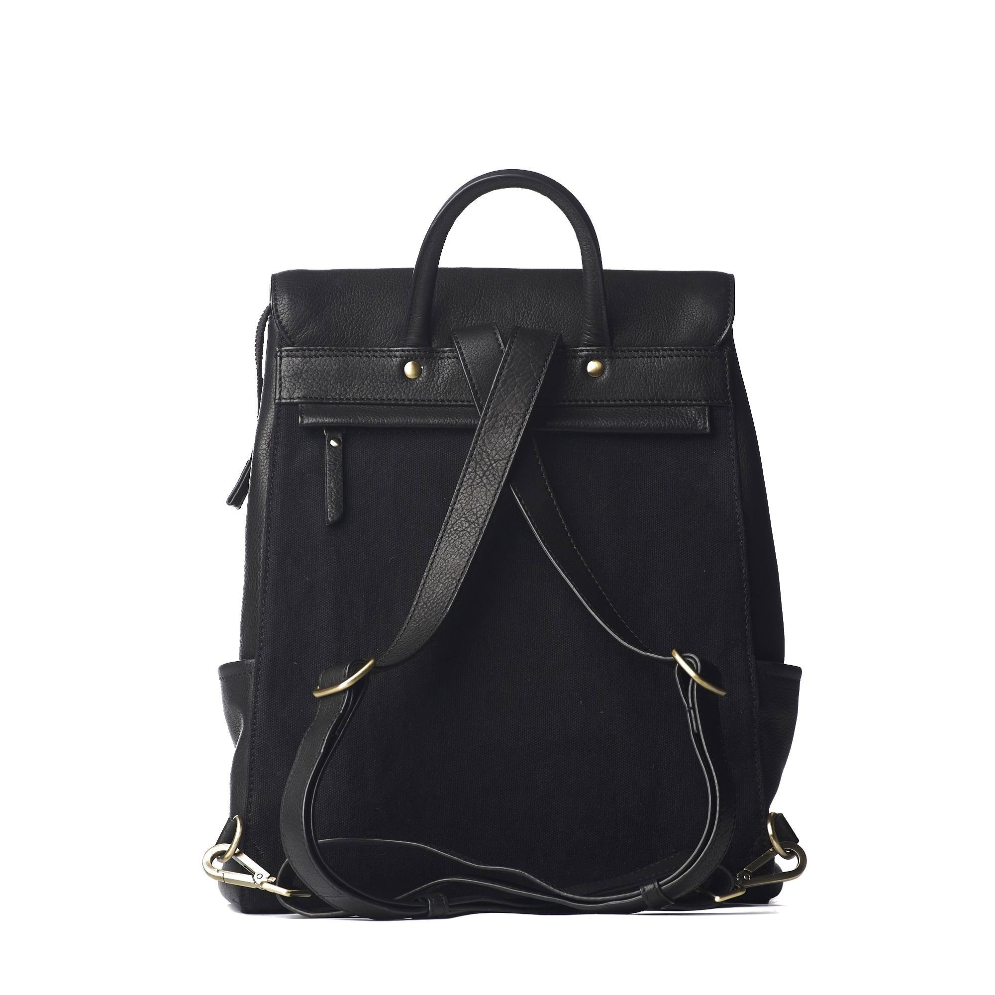 O My Bag jean backpack black soft grain leather